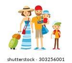 family on vacation | Shutterstock .eps vector #303256001