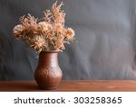 Nice Bouquet Of Dry Flowers In...