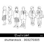back to school. group of vector ... | Shutterstock .eps vector #303270305