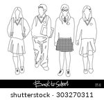 back to school collection.... | Shutterstock .eps vector #303270311