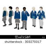 back to school collection.... | Shutterstock .eps vector #303270317