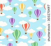 air balloons in the sky.... | Shutterstock . vector #303270497
