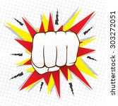 abstract hit hand punch design  ... | Shutterstock .eps vector #303272051