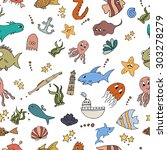 seamless abstract pattern... | Shutterstock .eps vector #303278279
