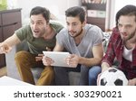 real emotions during the...   Shutterstock . vector #303290021
