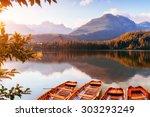 fantastic shtrbske pleso high... | Shutterstock . vector #303293249