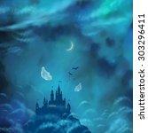 halloween vector nightly...   Shutterstock .eps vector #303296411