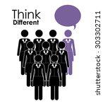 think different digital design  ... | Shutterstock .eps vector #303302711