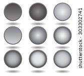 set of black buttons | Shutterstock .eps vector #303302741