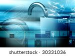 digital illustration of lock in ... | Shutterstock . vector #30331036