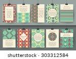 set of creative vintage card...   Shutterstock .eps vector #303312584