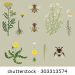 Pattern With Bees And Yellow...