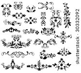 ornamental design elements | Shutterstock .eps vector #30332092