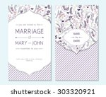 wedding invitation  thank you... | Shutterstock .eps vector #303320921