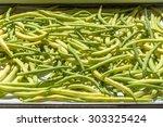 black eyed pea pods  | Shutterstock . vector #303325424