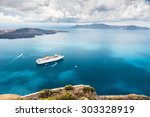 beautiful landscape with sea... | Shutterstock . vector #303328919