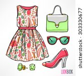 Woman\'s Summer Outfit. Dress...