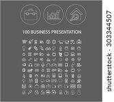 100 business outline flat...