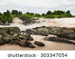 landscape of lee pee or lee phe ... | Shutterstock . vector #303347054