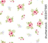 seamless floral pattern with... | Shutterstock .eps vector #303347585