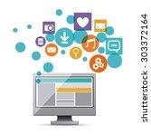 technology design digital... | Shutterstock .eps vector #303372164