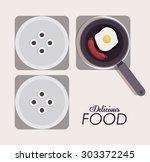 food digital design  vector...   Shutterstock .eps vector #303372245