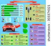 car repair and tuning... | Shutterstock .eps vector #303374321