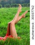 perfect long legs. natural... | Shutterstock . vector #30337762
