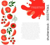 template for design with red... | Shutterstock .eps vector #303379361