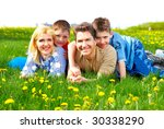 happy family. father  mother... | Shutterstock . vector #30338290