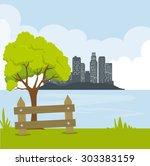 city urban design  vector... | Shutterstock .eps vector #303383159