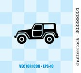 icon of jeep. eps 10. | Shutterstock .eps vector #303388001