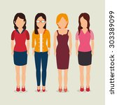 people digital design  vector... | Shutterstock .eps vector #303389099