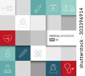 medical background with thin... | Shutterstock .eps vector #303396914
