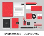 corporate identity template for ... | Shutterstock .eps vector #303410957