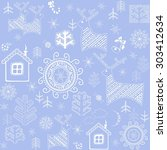 new years blue wallpaper with... | Shutterstock . vector #303412634