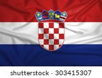 waving croatia flag | Shutterstock . vector #303415307
