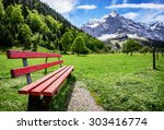 karwendel mountains in austria  ... | Shutterstock . vector #303416774
