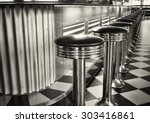 old fashioned bar stools | Shutterstock . vector #303416861