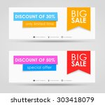 banner design for sale on a... | Shutterstock .eps vector #303418079