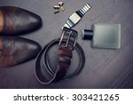 men's accessories | Shutterstock . vector #303421265