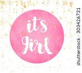 vector watercolor pink sticker...   Shutterstock .eps vector #303426731