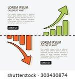 creative illustration of graphs ... | Shutterstock .eps vector #303430874