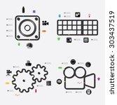 technology infographic | Shutterstock .eps vector #303437519