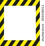 safety line frame | Shutterstock .eps vector #303438311