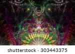 Abstract Psychedelic Colorful...