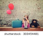 a photo of a vintage child... | Shutterstock . vector #303454481