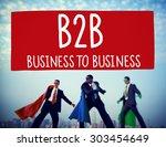 business to business marketing... | Shutterstock . vector #303454649