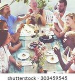 friends friendship outdoor... | Shutterstock . vector #303459545