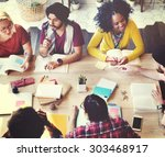 diverse architect people group... | Shutterstock . vector #303468917